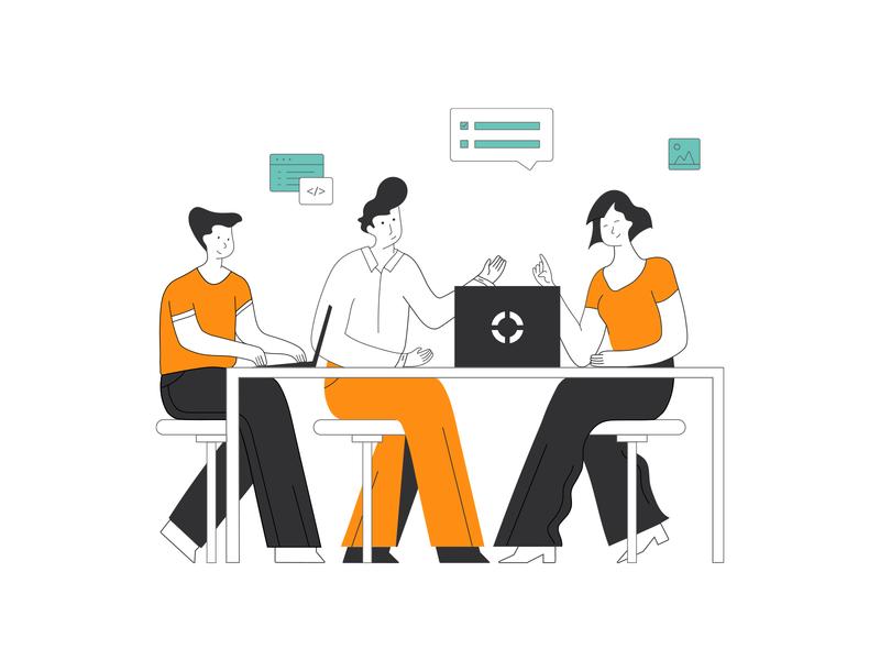Business cooperation business cooperation character illustration