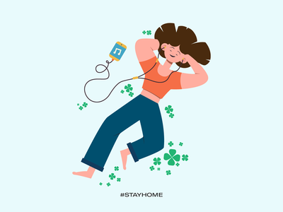 Stay home - stay relaxed stay safe stay healthy stay fit covid19 illustrations vector work from home stay home