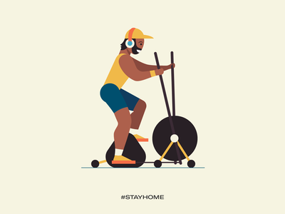 Stay home - stay fit stay safe stay healthy stay fit covid19 illustrations vector work from home stay home