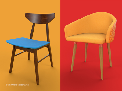 Mid-century modern 3D furniture pack 3d rendering substance painter 3dsmax assets unreal engine 3d models furniture midcenturymodern mid-century