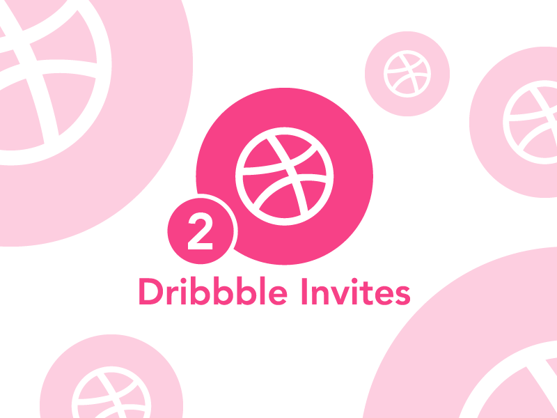 Dribbble invites give away! two like invites invitations give follow dribbble give away