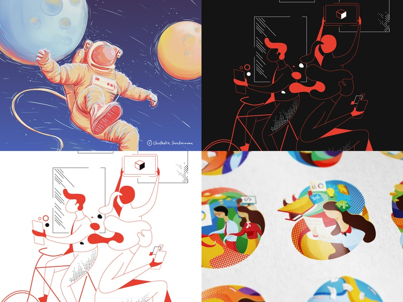 Top4Shots on 2018 art vector design illustration digitalart