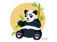 Giant panda - Vector speed drawing (Ep_#02)