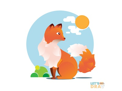 Red fox - Vector speed drawing (Ep_#03) art photoshop adobe illustrator speed painting digital art vector speed drawing fox red fox