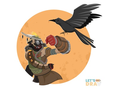 Bloodhound (Apex Legends) - Vector speed drawing illustrator apex legends photoshop artist creative speed painting adobe drawings arts