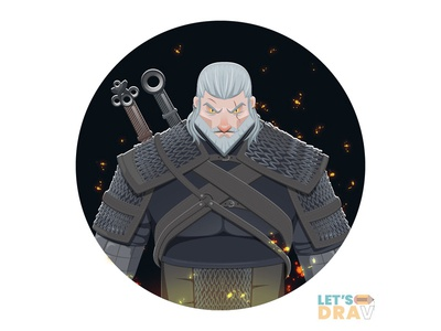 Geralt (The Witcher 3) - Vector speed drawing (Ep_#07) creative digital art photoshop illustrator vector speed drawing art witcher3 geralt