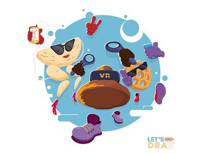 Sinhala & Hindu New Year Party | අවුරුදු කැවිලි නැටුම askme kokis kawum illustrator vector art hindu sinhala party new year vector art illustration photoshop digitalart