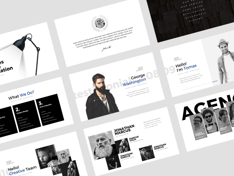 Minimalist Powerpoint Template By Dublindesign Dribbble