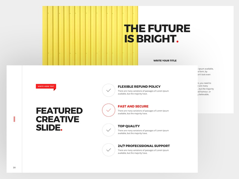 Balance Free Minimal Powerpoint Keynote Template By