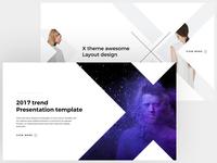 X - FREE POWERPOINT & KEYNOTE TEMPLATE ux ui templates template slides slide powerpoint keynote presentation minimal clean
