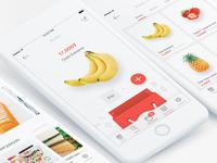 Market Mobile Application home clean application ecommerce shop market mart app mobile
