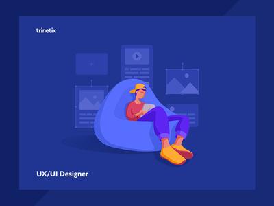 UX/UI Designer designer illustration uxui character trinetix vacancy
