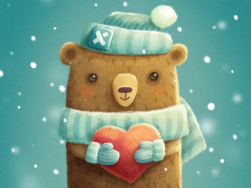 Teddy bear love teddy bear animal cute heart illustration trinetix