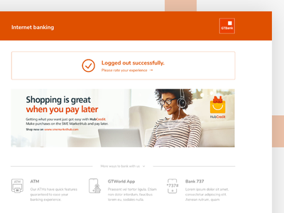 Online Banking: Customer outboarding 635 orange gtbank ux ui outboarding online banking banking