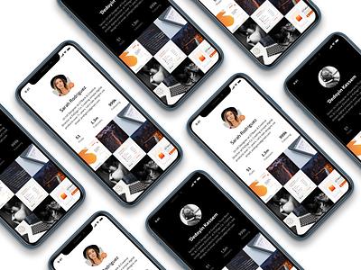 Daily UI   User Profile #001 user profile uidesign face minimalism social media app mobile digital design ui daily dailyui app sketch
