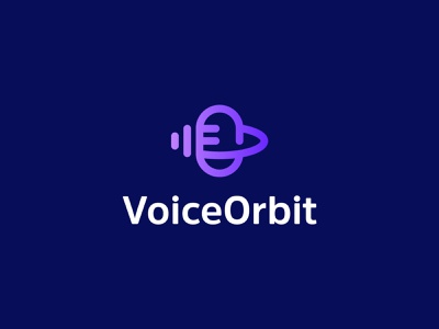 Voice Orbit logo design brand identity logo voice over