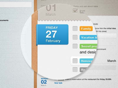 planner app app planner todo task tasks interface reminder blue gray brown web website ui design texture