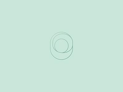 Calming jewellery mint gradient thin light line identity brand logo jewel pastel calm