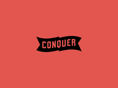 Type Conquers type lettering typography block conquer logo letters logotype flag graphic industrial