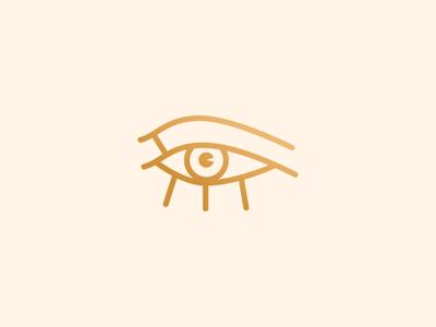 The eye of Horus design line icon simple gold minimal symbol eye logo egyptian egypt horus