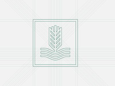 AAG Logo Build wheat logo identity icon farming farm branding brand badge australia agribusiness