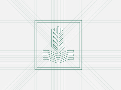 AAG Logo Build wheat logo identity icon farming farm branding brand badge australia agribusiness