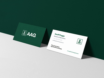 AAG Business Card stationery branding print brand farming farm business card icon logo graphic design identity