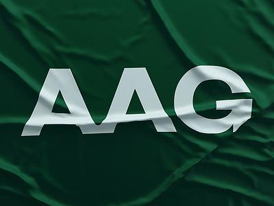 AAG Flag banner australia wrinkled letters australian graphic simple branding brand modern identity flag typography design minimal logo type