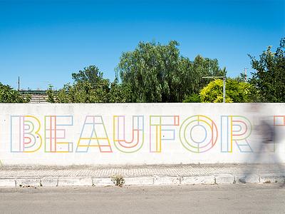 Beafort Street Mural colorful line graphic lettering branding brand minimal type modern simple design typography mural
