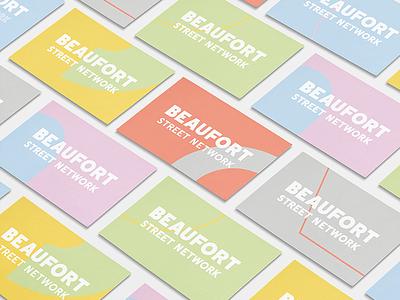 BSN Business Card logotype minimal multicolored multicolor branding brand color businesscard stationery modern type identity design typography
