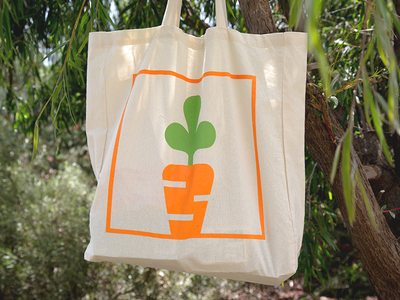 My Foodie Box screenprint food canvas tote orange carrot vector brand mark line brand branding symbol modern simple identity design graphic minimal icon logo