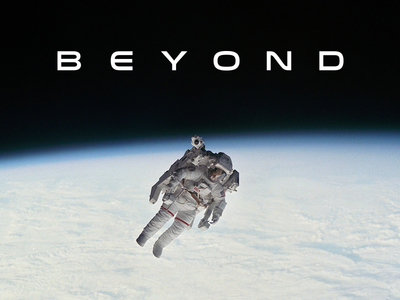 Go Beyond outer nasa modern minimal graphic earth technology tech astro astronaut beyond typography type space