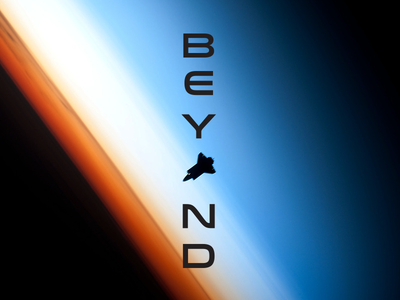 Go Beyond nasa gradient rocket ship outer space technology tech typography type simple modern design graphic minimal
