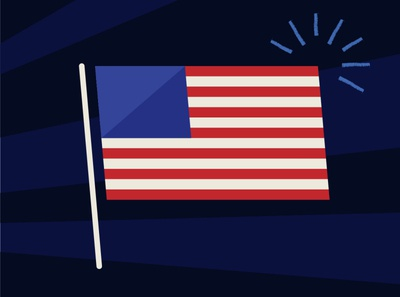 4th of July usa flag usa july 4th fourth of july holiday digital vector illustration