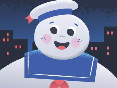 Stay Puft! 80s movie movies new york city ghostbuster marshmallow ghostbusters ghosts halloween digital vector illustration