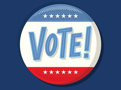 VOTE! america buttons button design button voting vote election digital vector illustration