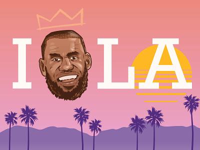 I Love LA california los angeles lakers los angeles lebron lebron james lakers sports nba basketball digital vector illustration