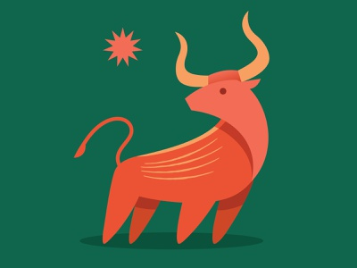 Year of the Ox chinese new year green lunar new year new year animal ox digital vector illustration