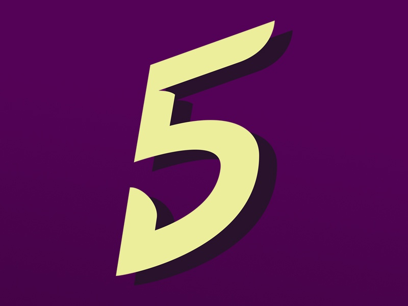 Typehue: 5 color number vector 5 typehue