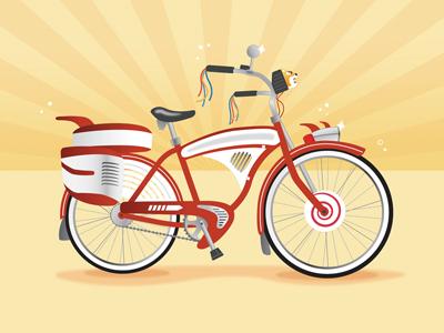 Pee wee bike dribbble