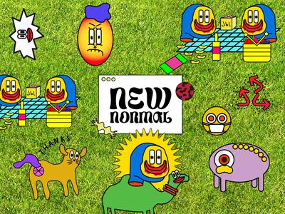 online exhibition: NEW NORMAL afterwork illustration exhibition online covid19 new normal