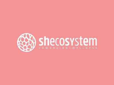 Shecosystem   Coworking + Wellness organic andrea ceolato pink ecosystem 2016 biomorphic logo toronto women wellness coworking shecosystem