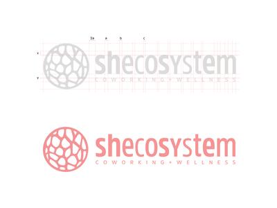 Shecosystem   Logo Structure structure women wellness toronto shecosystem pink andrea ceolato organic logo coworking biomorphic 2016
