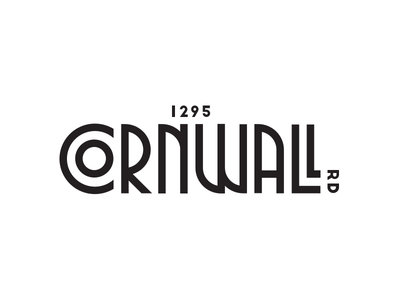 1295 Cornwall Road | Logo Proposal real estate art deco andrea ceolato new toronto 1295 road cornwall logo
