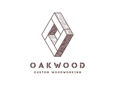 Oakwood - custom woodworking   logo diamond joinery andrea ceolato custom grain natural joints toronto woodworking wood logo oakwood