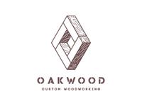 Oakwood - custom woodworking | logo