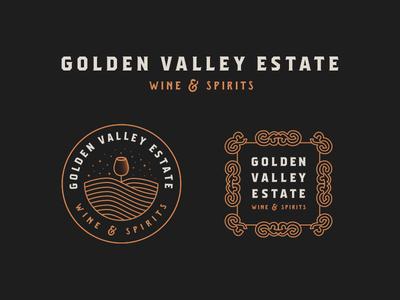 Golden Valley Estate - Wine & Spirits   Logo Revamp wine vineyard valley toronto spirits logo golden revamp glass estate andrea ceolato 2018