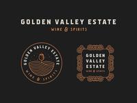 Golden Valley Estate - Wine & Spirits | Logo Revamp