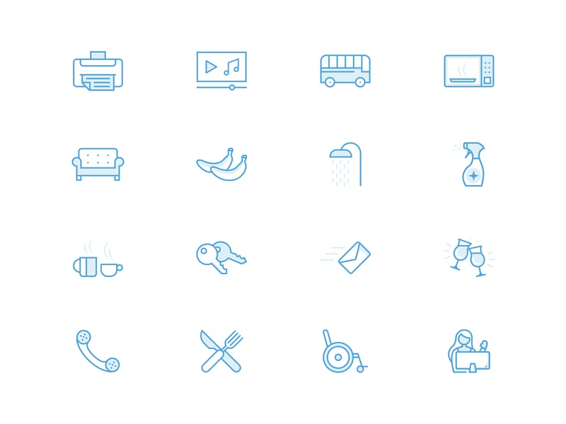 Workplace One   Icons workplace icons series illustration flat website minimal clean blue system set icon