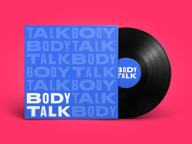 BODYTALK   Party and Radio Show logo wordmark type record cover pattern vinyl radioshow bodytalk talk body